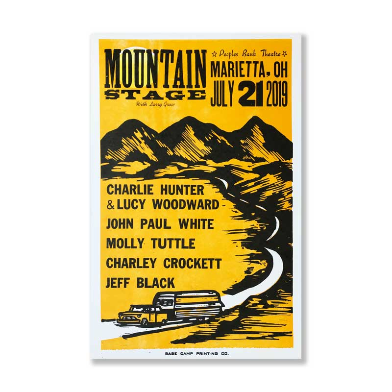 July 21st, 2019 Mountain Stage Poster