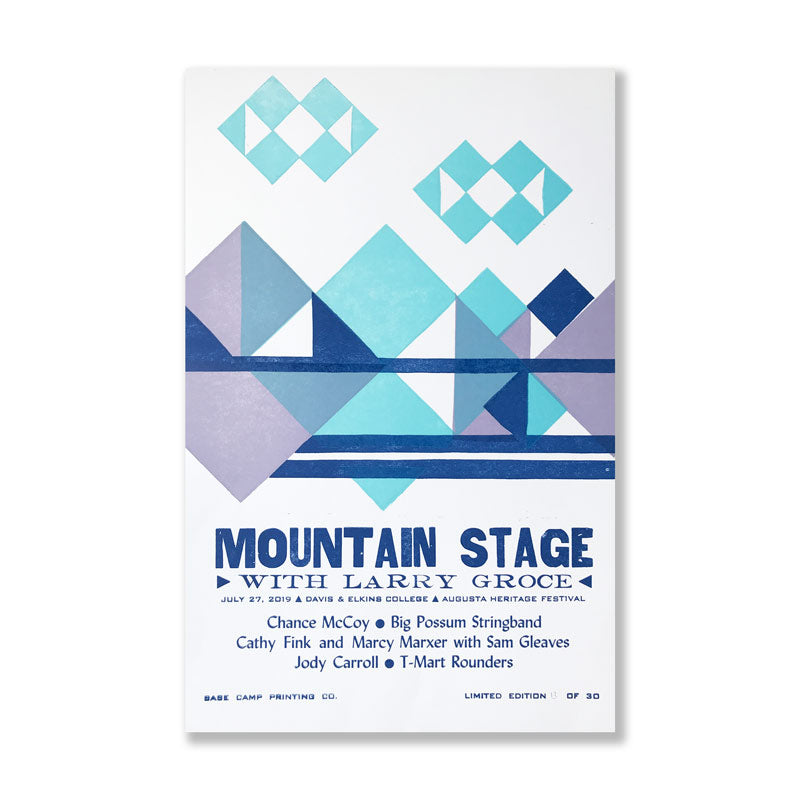 July 27th, 2019 Mountain Stage Poster