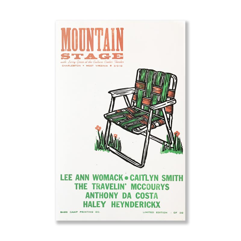 June 3rd, 2018 Mountain Stage Poster