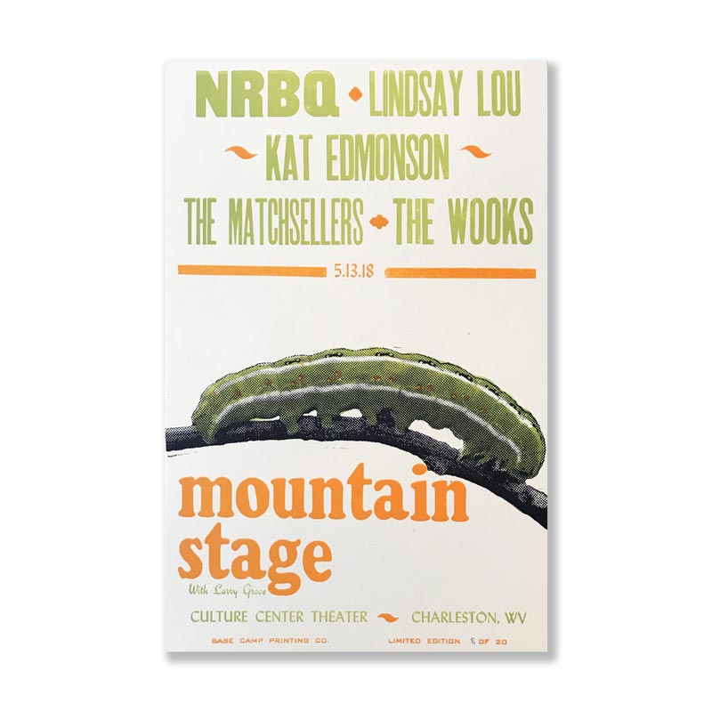 May 13th, 2018 Mountain Stage Poster