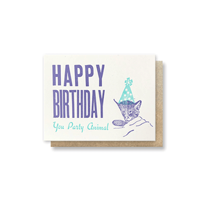 Party Animal Birthday Card