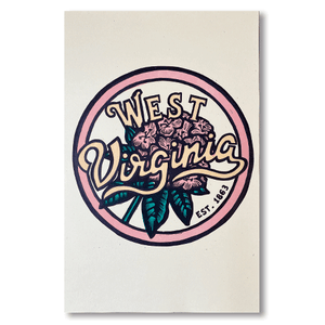 West Virginia Rhododendron Print