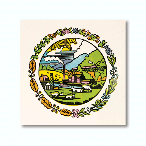 Reverse Seal of West Virginia Print