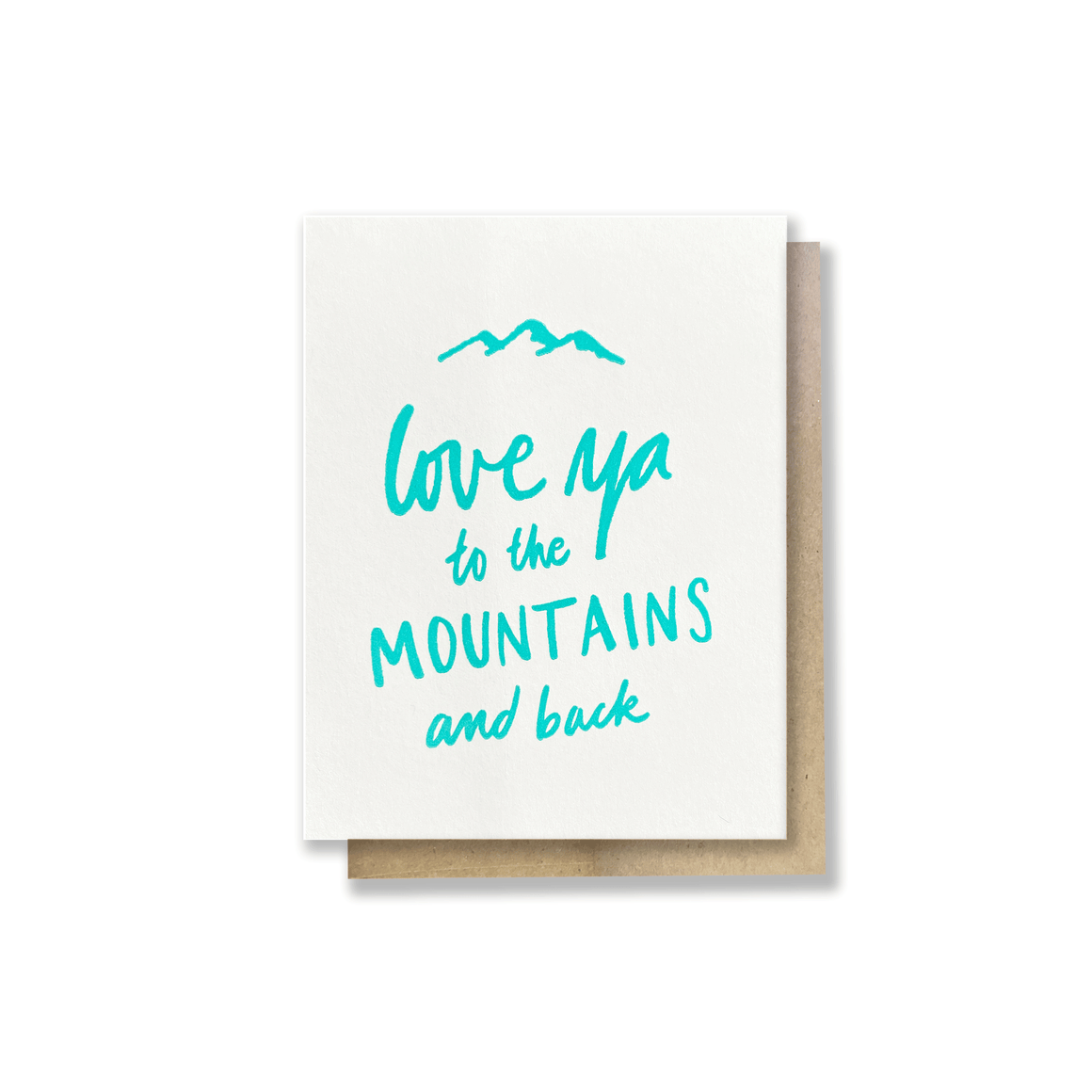 To the Mountains Card