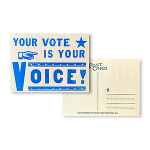 Your Vote Is Your Voice Postcard