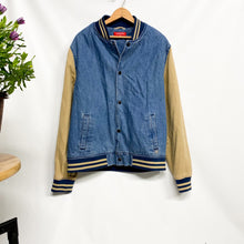 Load image into Gallery viewer, Magnus Denim Bomber Jacket