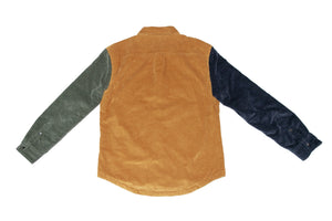 Color Blocked Cord Jacket
