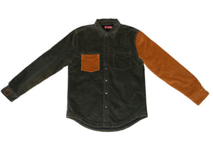 Pine Color Blocked Cord Jacket