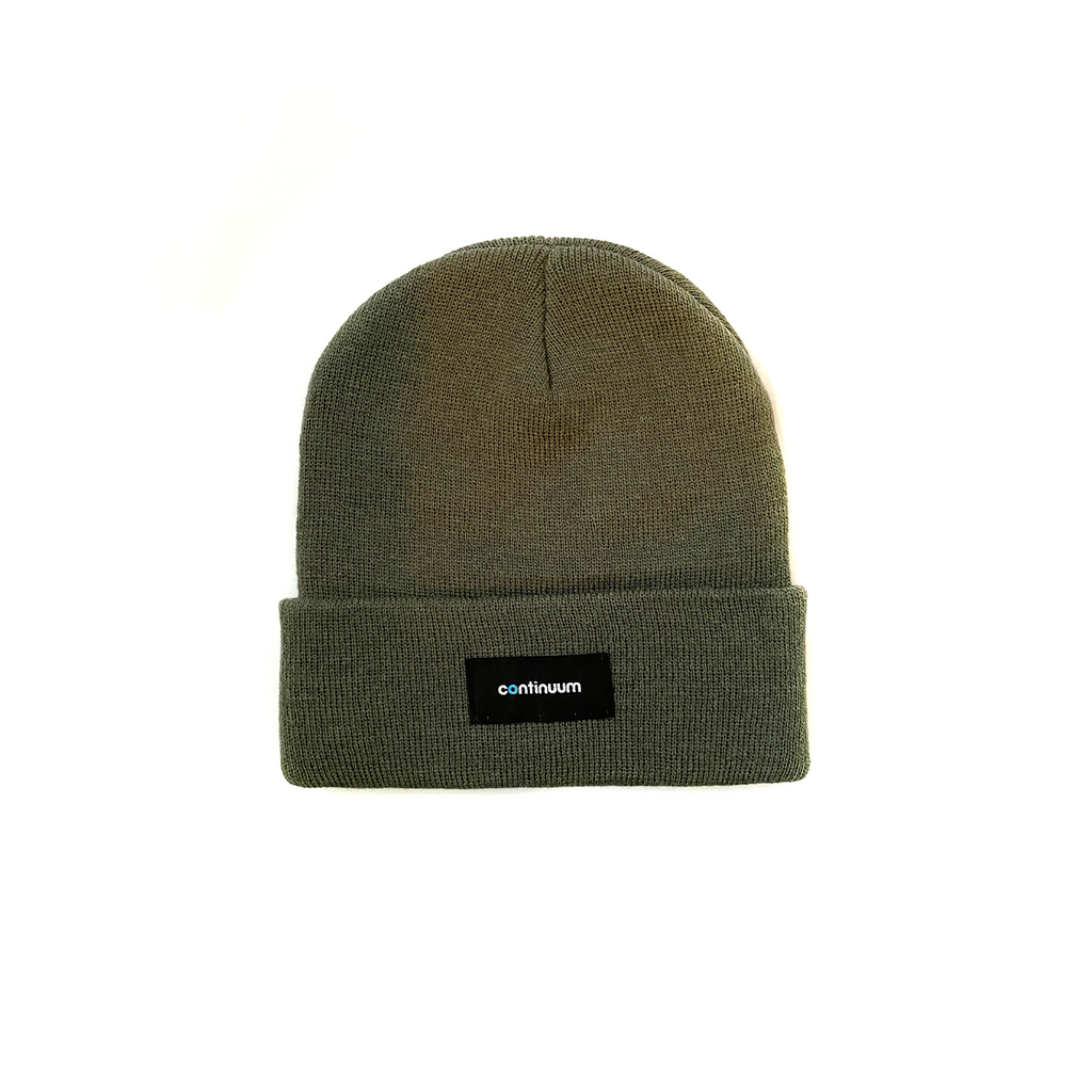 Continuum - Fine Knit Beanie - Olive