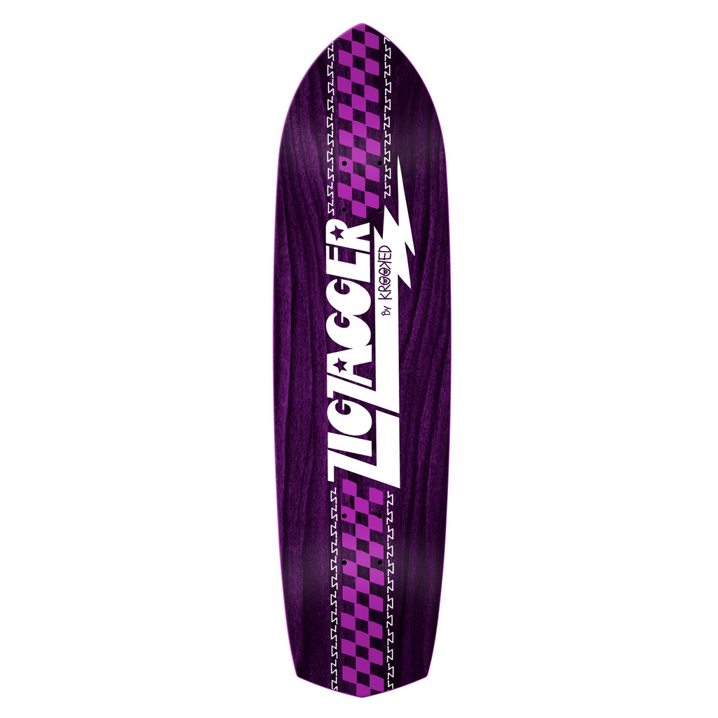 "Krooked - 8.62"" Zig Zagger Ovy Purple"