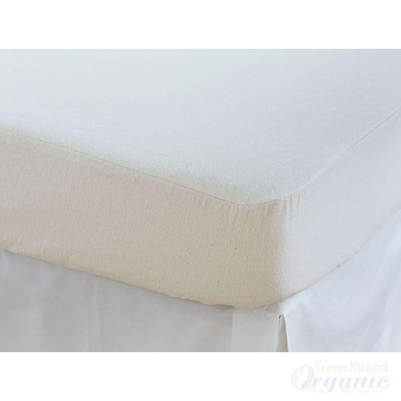 "Coyuchi Organic Linens - 15"" Cotton Mattress Protector-COYUCHI-Sleep Naked Organic Mattress Store"
