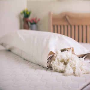 Wool Body Pillow | Savvyrest Natural Sleep Products-SAVVYREST-Sleep Naked Organic Mattress Store