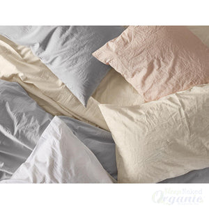 Coyuchi Organic Linens - 100% cotton Crinkle Sheet Set-COYUCHI-Sleep Naked Organic Mattress Store
