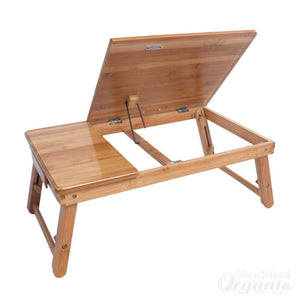 Wooden Bed Reading Lap Table-Orbelo-Sleep Naked Organic Mattress Store