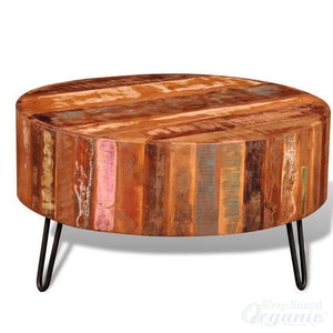 Wooden Coffee Table Antique style-OOS-Sleep Naked Organic Mattress Store