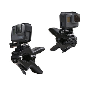 Clip Klem Mount 360 Swivel Dual-head Flexibel Statief voor GoPro HERO5 / 4/3/2/1 / SJCAM / Xiaomiyi Sport Camera's