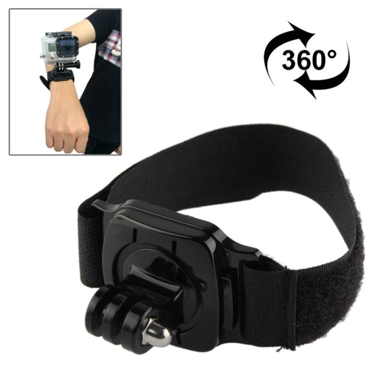 360 Degree Rotation Hand Camera Wrist Strap Mount for GoPro NEW HERO /HERO6 /5 /5 Session /4 Session /4 /3+ /3 /2 /1, Xiaoyi and Other Action Cameras, Strap Length: 36cm(Black)