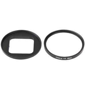 58mm 10x close-up lens macro lensfilter voor GoPro HERO5 sessie / HERO4 sessie / HERO sessie