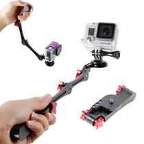 TMC Opvouwbare Pocket Stabilizer Grip Mount Monopod voor GoPro HERO5 Session / 5/4 Session / 4/3 + / 3/2/1, Xiaoyi Sport Camera's