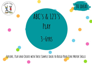 ABC's & 123's Play Pack Digital Download (Ages 3-6yrs.)