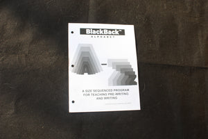 BlackBack Writing Program - Choose from alphabet, numbers, and strokes