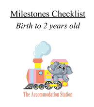 Load image into Gallery viewer, The Accommodation Station Milestone's Checklist: Birth to Two Years Old