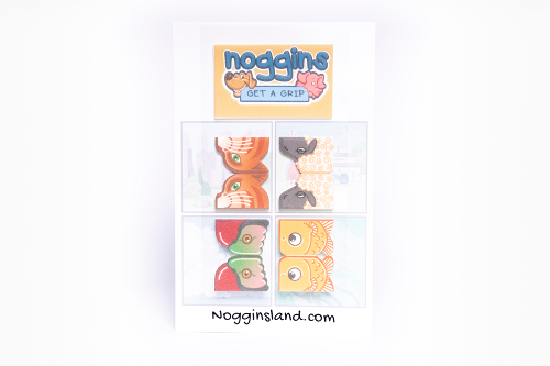 Noggins 4 Pack of Reusable Stickers - Stick on, Play, Grow!