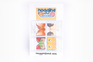 Noggins 4 Pack Reusable Stickers, Scissors, and Curriculum Combo - Stick on, Play, Grow!
