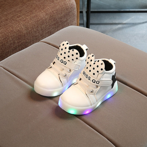 New Baby Boys Girls Luminous Sports Shoes LED Luminous Sneakers Children Cartoon Non-slip Shoes Kids Casual Shiny Star Shoe