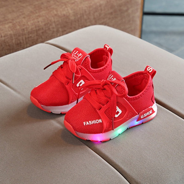 Kids Flash Led Light Breathable Casual Shoes LED Shoes Fashion For Children