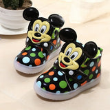 Children Shoes With Flash Light Fashion Boys Shoes Autumn Winter Breathable Girls Cartoon Sneakers Kids Led Kids Sport Shoes