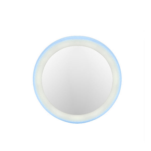 Classic Rechargeable Mini Portable Round HD Makeup Cosmetic Mirror with 12LED Lights