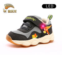 Dinoskulls Dinosaur shoes baby casual shoes infant shoes Boys girl leather mesh breathable LED Lighted kids sport shoes Sneakers
