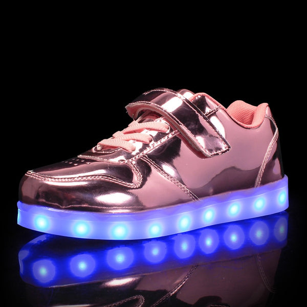 Glowing Sneakers for Girls illuminated Sneakers Luminous Sneakers Kids Led Shoes Glowing Sneakers with Charging zapatos de luces