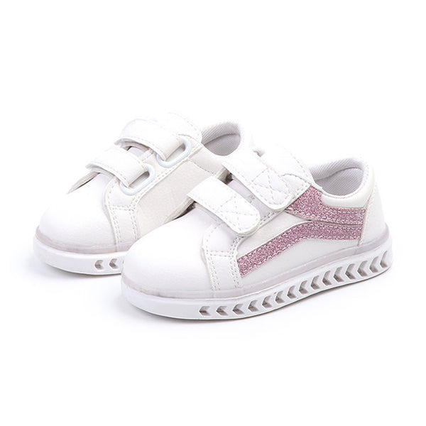 Infant Tennis Fashion Sports Children Sneakers LED Lighted Hook&Loop Lovely Casual Boys Girls Shoes Fantastic Cool Kids Shoes