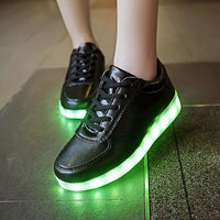 USB charging Glowing sneakers Footwear Women Children led shoes infant Light Up basket led slippers Luminous sneakers
