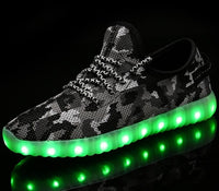 Men Women Children USB Charger Led Light Shoes Unisex Casual Sports for Kids & Adult Fashion Boys & Girls Sneakers Lace Up Shoe