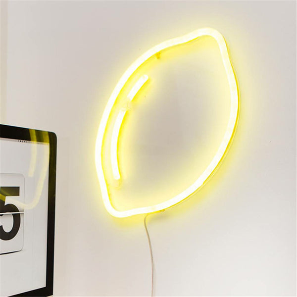New LED Lemon Night Neon Light Scandinavia Chic Banana Cloud Colorful Night Lamp For Home Baby Bedroom Christmas Decor Kids Gift
