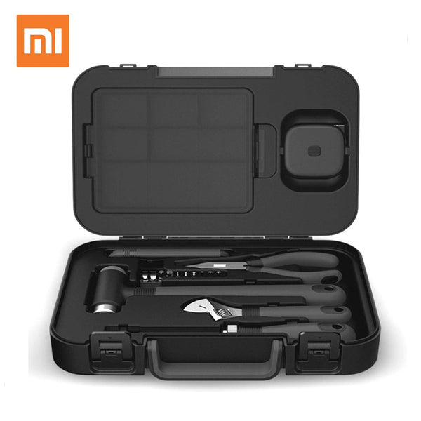 Xiaomi MIIIW 6+2 DIY Tool Kit General Household Hand Tool with Screwdriver Wrench Hammer Tape Plier Knife ToolBox -Black