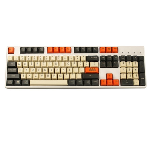 YMDK Carbon 61 87 104 Top Print Keyset Thick PBT OEM Profile Keycaps For MX Mechanical Keyboard