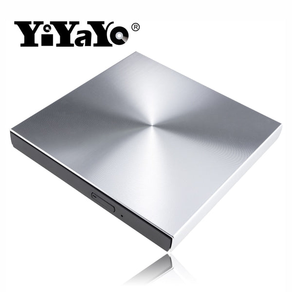 YiYaYo USB 3.0 Aluminum Alloy External DVD Burner CD Player Slim  Portatil Optical Drive For MacBook Laptop/Windows Notebook