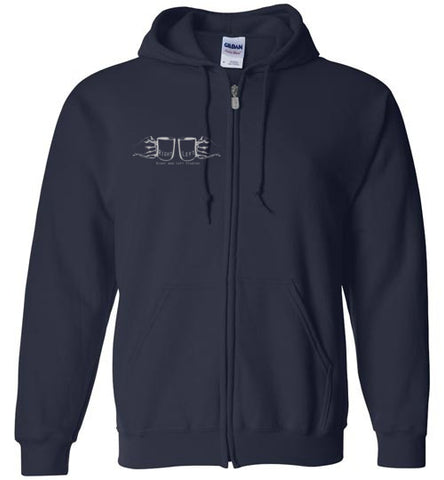 @EndTripMovie Unisex Zip Hoodie w/Light Gray Print