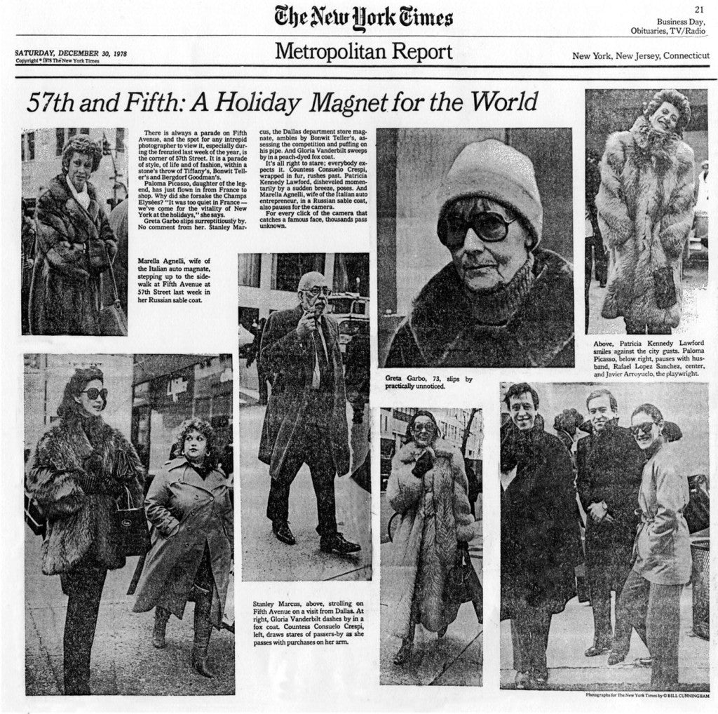 "New York Times ""On the Street"" Bill Cunningham 1978"