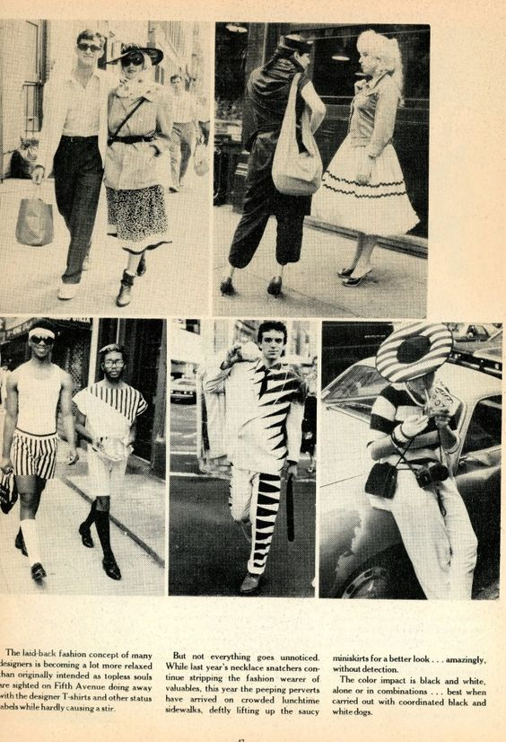 Details Mag Summer Issue 1982. Bill Cunningham