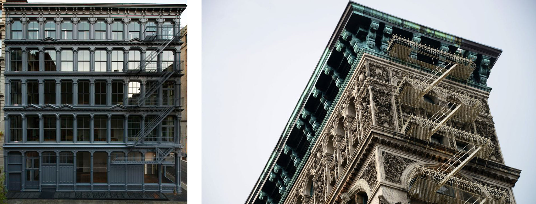 Cast Iron buildings in Soho, New York