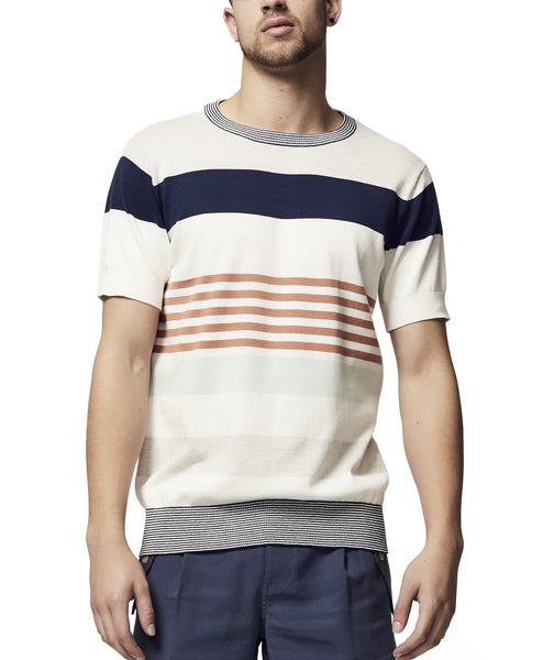 stripe summer cotton mens knitted top. SS18