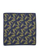 C&T Silk Pockerchief - Navy Paisley