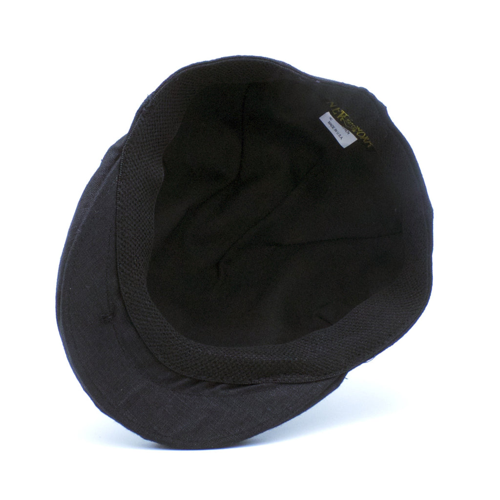 NY Hat Co. - Linen pub cap Black
