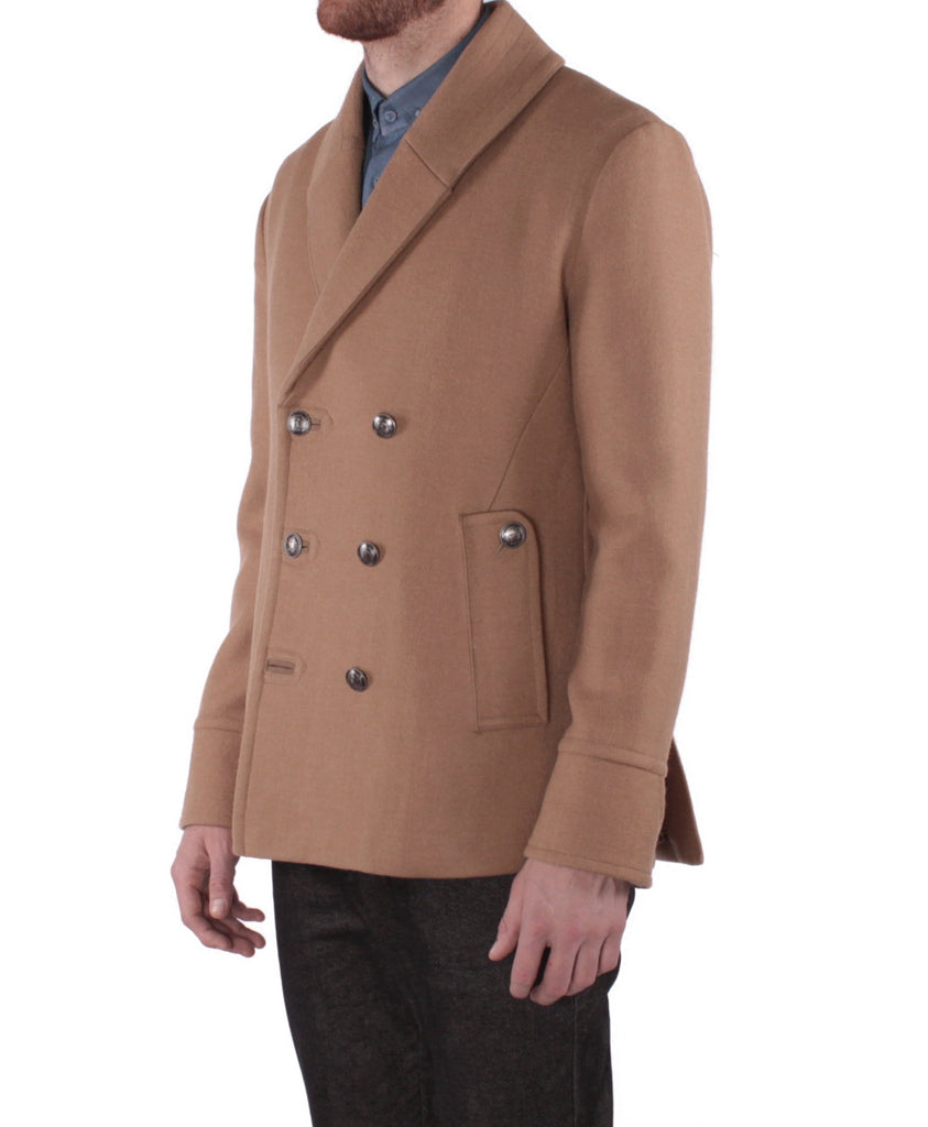 J222 Shawl Carcoat - Camel
