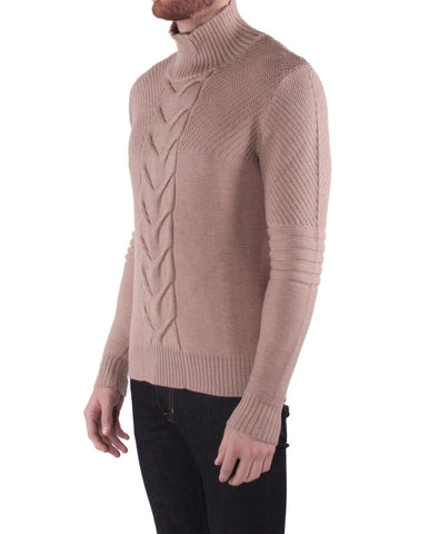 K303 Turtle Cable knit - Camel
